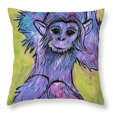 Monkey Mischief Throw Pillow