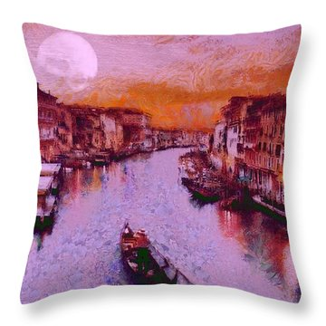 Monkey Painted Italy Again Throw Pillow