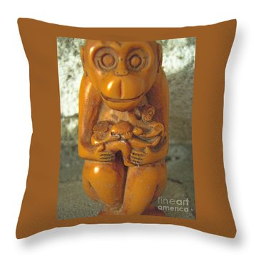 Monkey See Throw Pillow