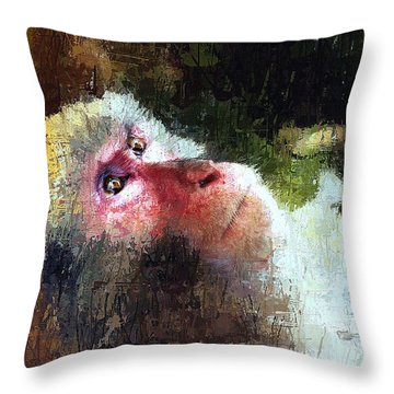 Monkey Wisdom Throw Pillow