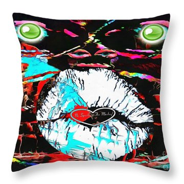 Monkey Works Throw Pillow