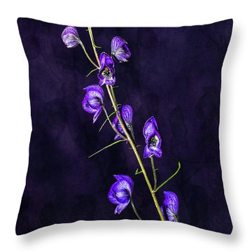 Monkshood Version 2 Throw Pillow