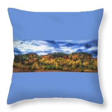 Monkton Ridge, Vt Throw Pillow by Rena Trepanier