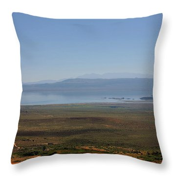 Mono Basin Landscape - California Throw Pillow by Christine Till