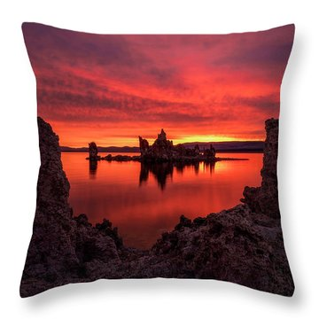 Mono Blaze Throw Pillow by Bjorn Burton