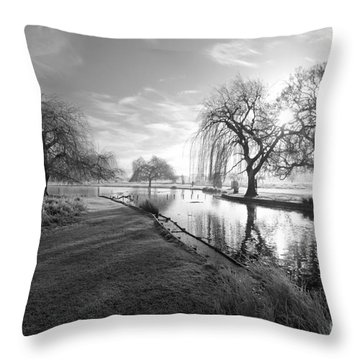 Mono Bushy Park Uk Throw Pillow