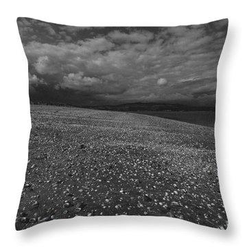 Mono Cunnigar Beach Throw Pillow