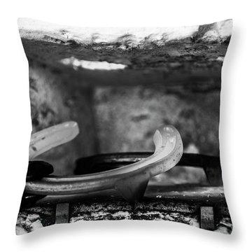 Mono Forge Throw Pillow
