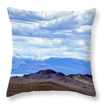 Mono Lake From Bodie Hills Throw Pillow