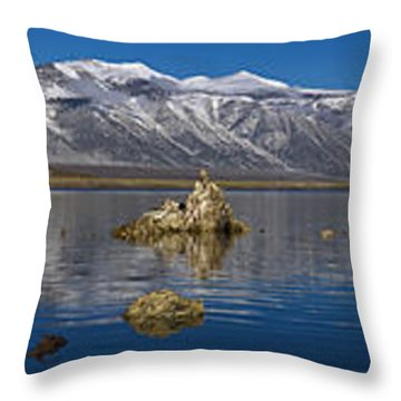 Mono Lake Pano Throw Pillow by Wes and Dotty Weber