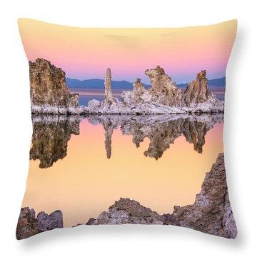 Mono Lake Through A Tufa Frame Throw Pillow