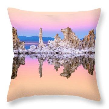 Mono Lake Tufa At Dusk Throw Pillow