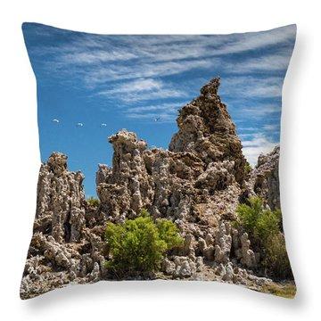 Mono Lake Tufa Throw Pillow