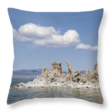 Mono Lake Tufa Towers Throw Pillow