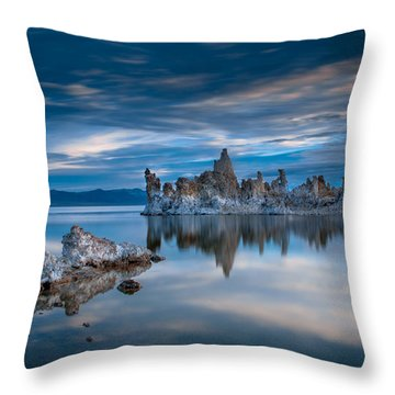 Mono Lake Tufas Throw Pillow by Ralph Vazquez