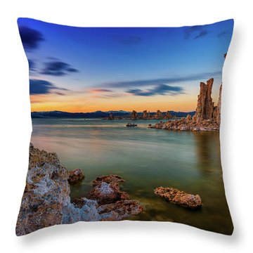 Mono Sunset Throw Pillow