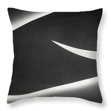 Monochrome Abstract Throw Pillow