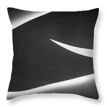 Monochrome Abstract Throw Pillow