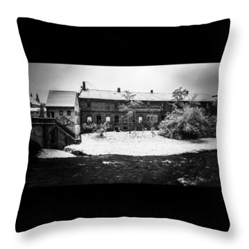 #monochrome #blackandwhite #bnw Und Throw Pillow by Mandy Tabatt