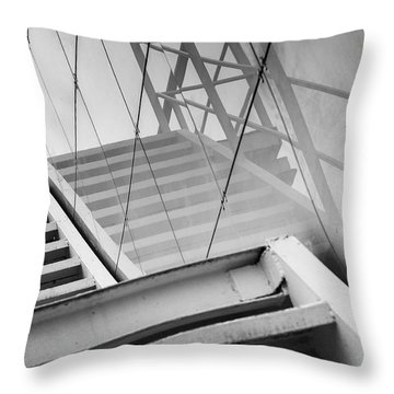 Monochrome Building Abstract 2 Throw Pillow