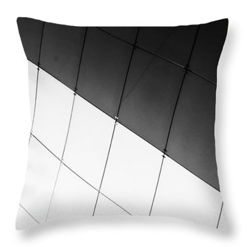 Monochrome Building Abstract 3 Throw Pillow