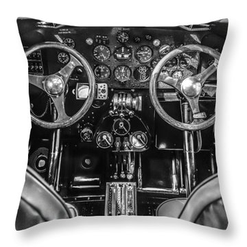 Monochrome Cockpit Throw Pillow