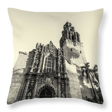 Monochrome Museum Throw Pillow by Joseph S Giacalone