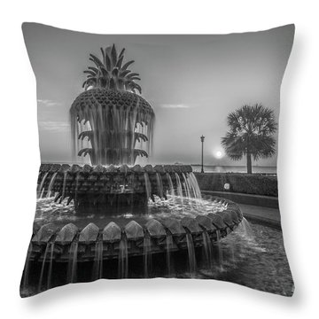 Monochrome Pineapple Throw Pillow