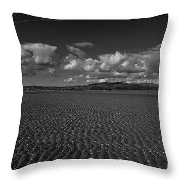 Monochrome Sand Ripples Throw Pillow