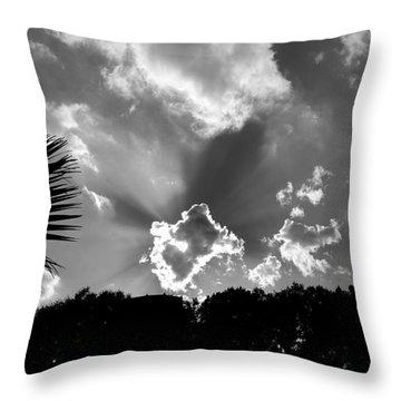 Monochrome Sunburst Throw Pillow