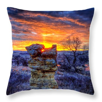Monolithic Sunrise Throw Pillow