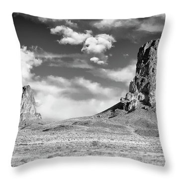 Throw Pillow featuring the photograph Monoliths by Jon Glaser