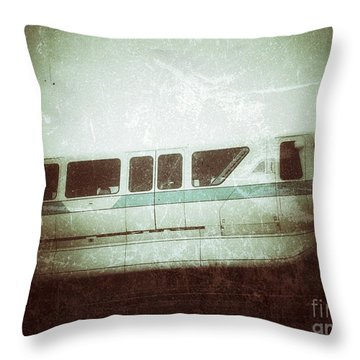 Monorail Throw Pillow