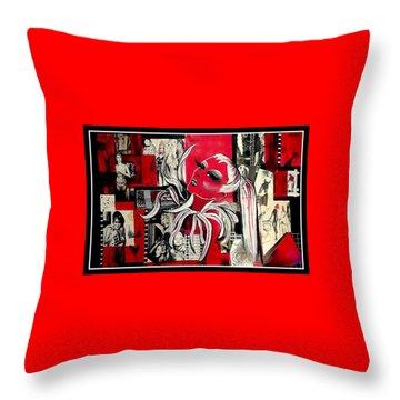 Monroe And Bardot Collage Throw Pillow