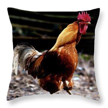 Monsieur Coq  Throw Pillow