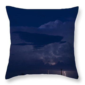 Monsoon Cloud And Lightening 20 Throw Pillow