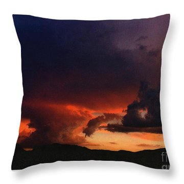 Throw Pillow featuring the photograph Monsoon by Fred Wilson