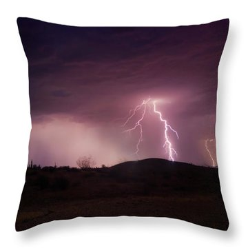 Monsoon Lightning Throw Pillow by Anthony Citro