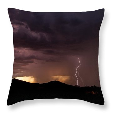 Monsoon Storm Throw Pillow