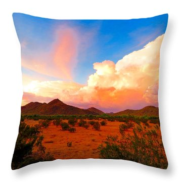 Monsoon Storm Sunset Throw Pillow