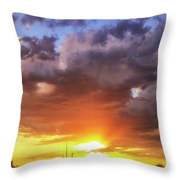 Monsoon Sunset Throw Pillow by Anthony Citro