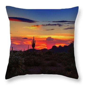 Monsoon Sunset Throw Pillow