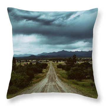 Monsoons From The Meadows Throw Pillow by Jason Coward