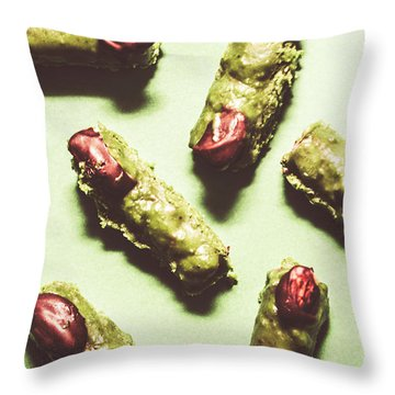 Fingernail Throw Pillows