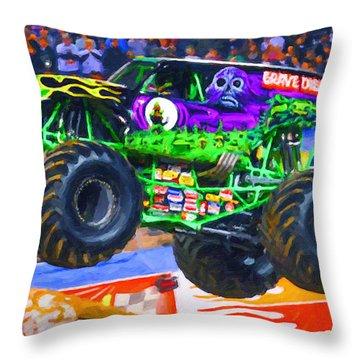 Monster Jam Grave Digger Throw Pillow