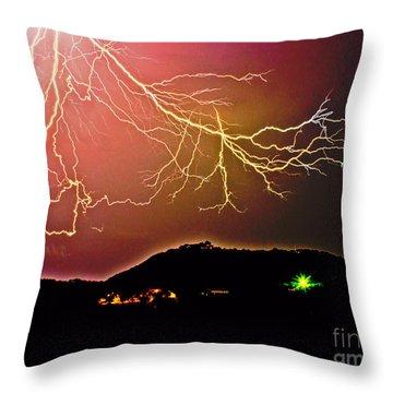 Monster Lightning By Michael Tidwell Throw Pillow