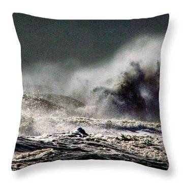 Monster Of The Seas Throw Pillow