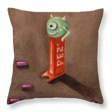 Monster Pez Throw Pillow by Leah Saulnier The Painting Maniac