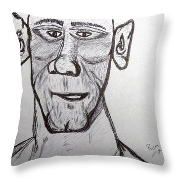 Monster Tom And His Radar Ears Throw Pillow by Robert Margetts