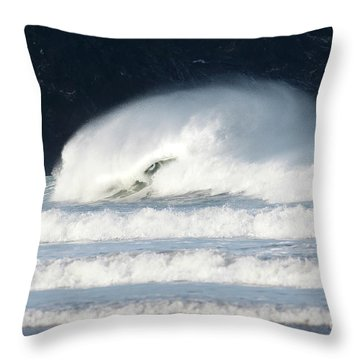 Throw Pillow featuring the photograph Monster Wave by Nicholas Burningham